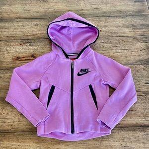 Nike Lavender Tech Fleece zip Front Jacket